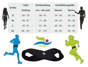 Laufgürtel Größentabelle - running belt-size table