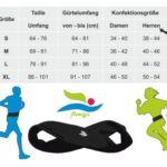 Laufgürtel Größentabelle - running belt-size table